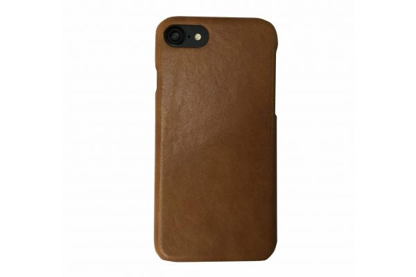 iPhone 7 echt lederen back cover beige merk Fashion