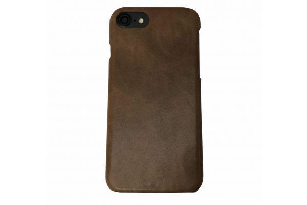 iPhone 7 echt lederen back cover bruin merk Fashion