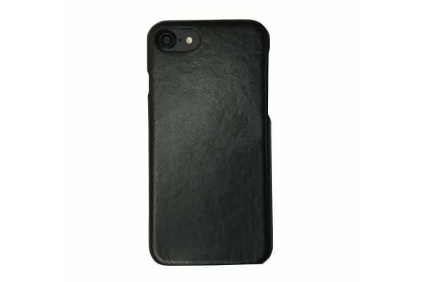 iPhone 7 echt lederen back cover zwart merk Fashion