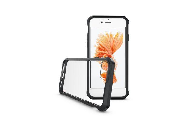 Iphone 7 Back cover Transparant Air Hybrid Zwart