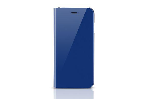 Clear view mirror case iPhone 7 blauw