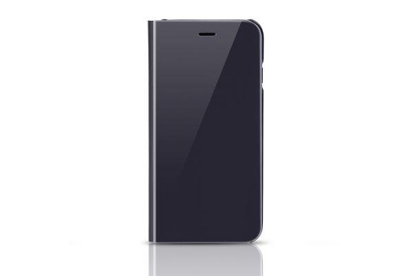 Clear view mirror case iPhone 7 zwart