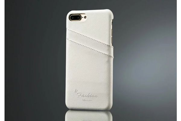 iPhone 7 plus echt lederen back cover / wallet wit merk Fashion