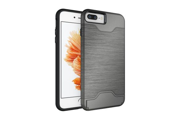 iPhone 8 plus Back Cover Case grijs