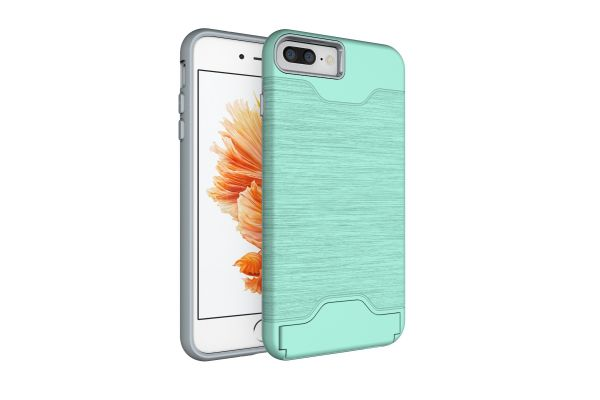 iPhone 8 plus Back Cover Case mintgroen