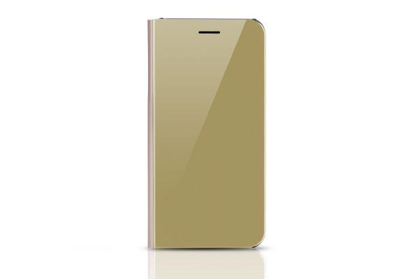 Iphone 8 Plus Clear View mirror case Goud