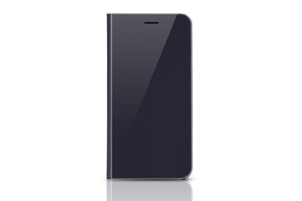 Iphone 8 Plus Clear View mirror case Zwart