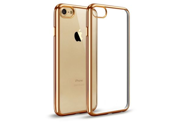Iphone 8 Back cover TPU case Transparant Goud