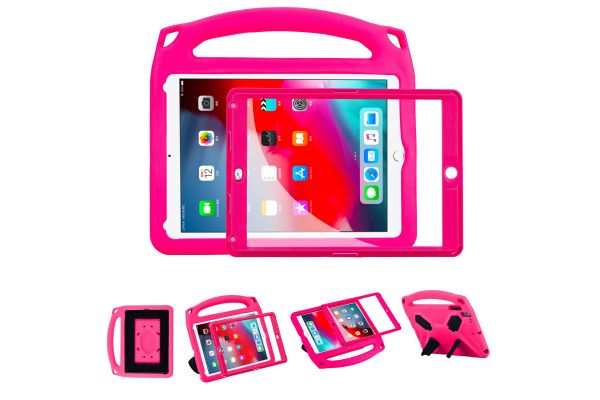 iPad Air 2 Kinderhoes met ingebouwde screenprotector Roze