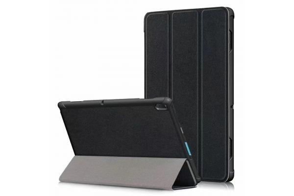 Lenovo Tab E10 Hard Tri-Fold book cover zwart