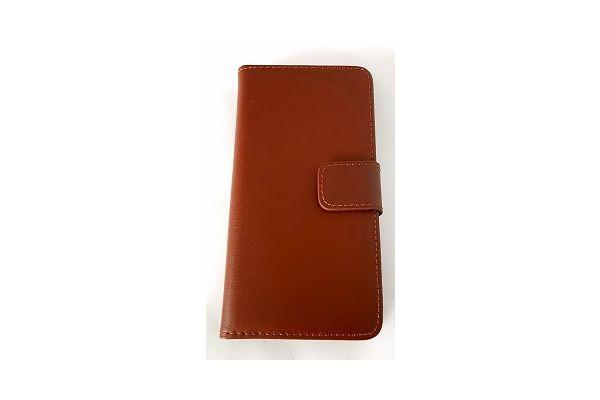 Iphone 7 plus luxe lederen portemonnee hoes met ruimte voor pasjes en brief geld bruin