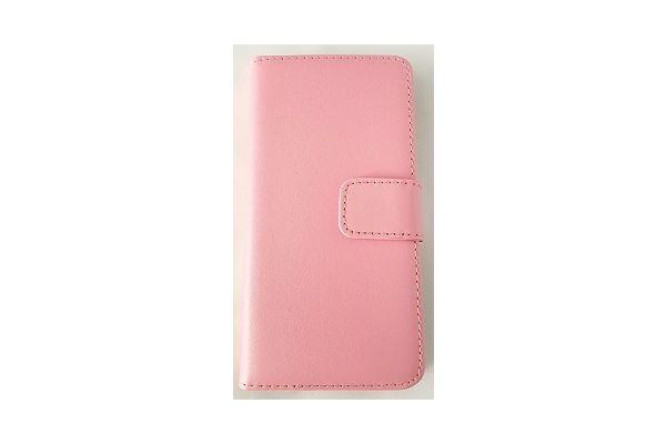 Iphone 7 plus luxe lederen portemonnee hoes met ruimte voor pasjes en brief geld licht roze