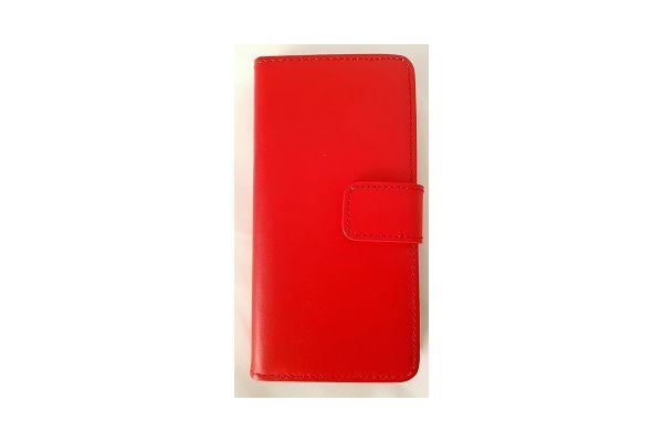 Iphone 7 luxe lederen portemonnee hoes met ruimte voor pasjes en brief geld rood