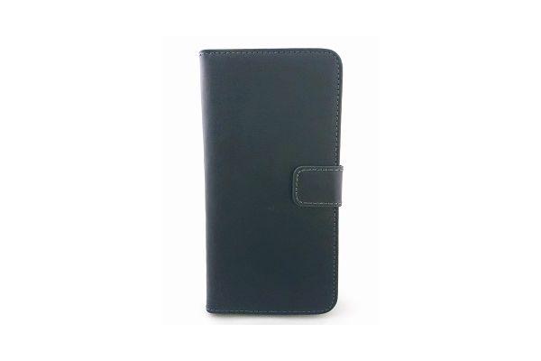 Iphone 7 luxe lederen portemonnee hoes met ruimte voor pasjes en brief geld zwart