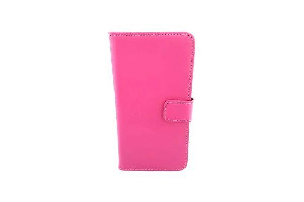 Iphone 7 plus luxe lederen portemonnee hoes met ruimte voor pasjes en brief geld donker roze