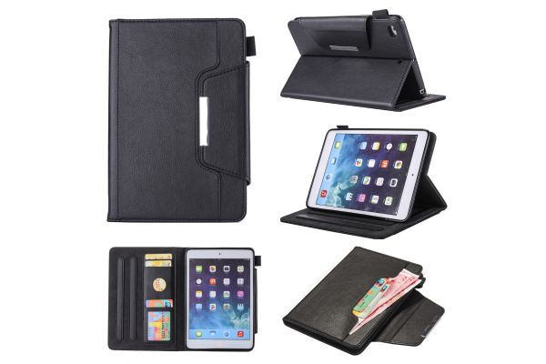 iPad Mini 1-2-3 Book Cover Deluxe Zwart