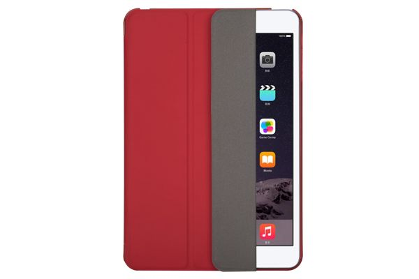 iPad Mini 1-2-3 Hard Tri-Fold book cover Rood