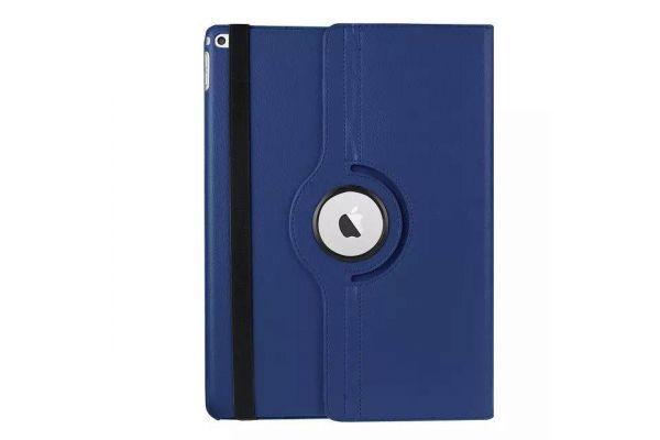 Tablet PU Leer iPad Pro 12.9 inch Draaibare Hoes Donkerblauw