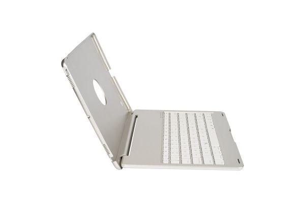 iPad Pro 10.5 Case Bluetooth verlicht Toetsenbord zilver