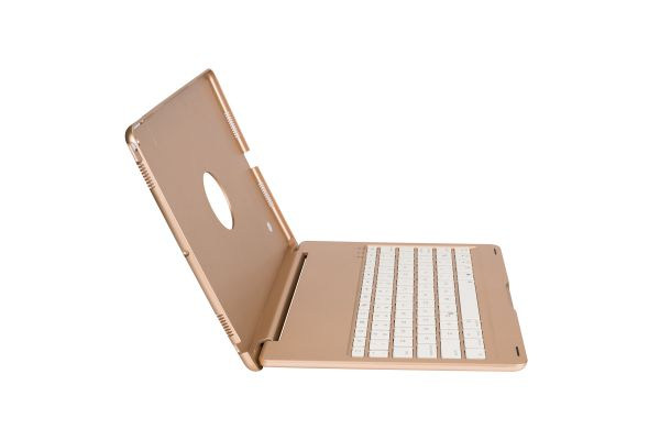 iPad Pro 10.5 Case Bluetooth verlicht Toetsenbord goud