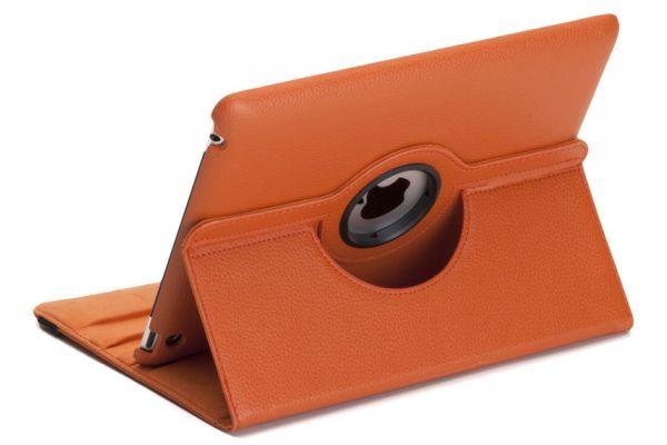 iPad Air 1 PU Leer Draaibare Hoes Oranje