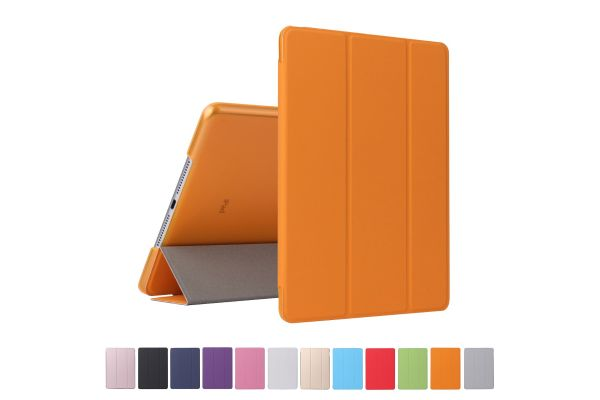 iPad 2018 9.7 inch Hard Tri-Fold Book Cover Oranje