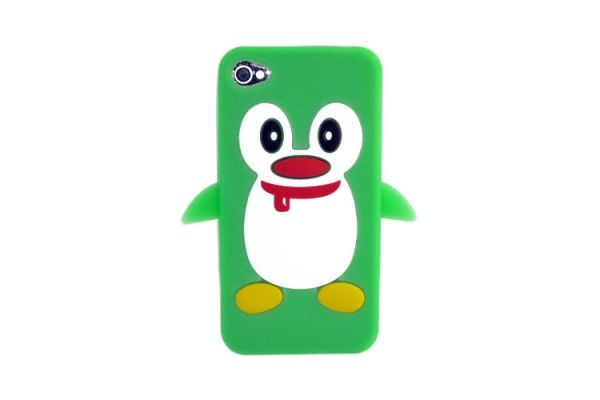 iPhone 4 - iPhone 4S Hoesje Pinguin Groen