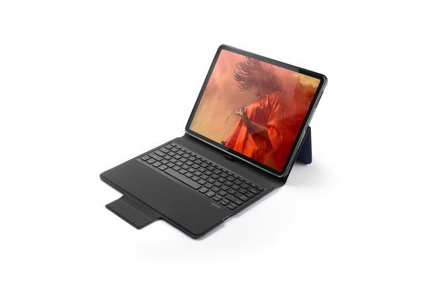 iPad Pro 12.9 model 2018 hoes met vast toetsenbord ultra protection premium blauw