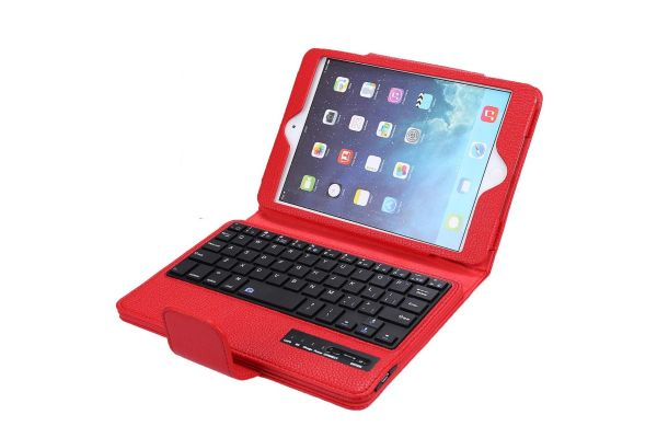iPad Mini 4 Luxe hoes met draadloos toetsenbord Rood