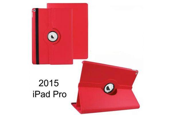 iPad Pro 12.9 inch Draaibare Hoes Rood kunstleer