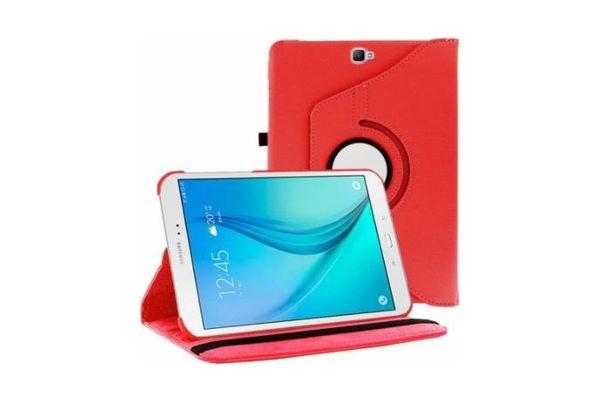 Samsung Tab A 2016 10.1 PU leren Draaibare hoes rood T580 T585