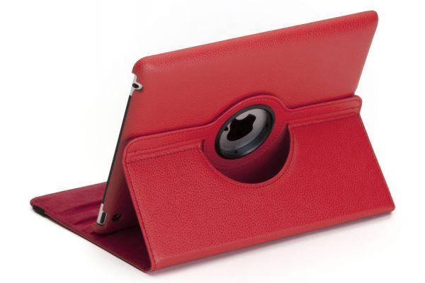 iPad Air 1 PU Leer Draaibare Hoes Rood