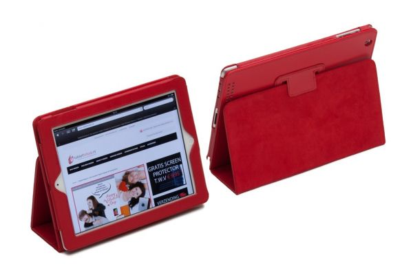 iPad Mini 1-2-3 PU Leren Book Cover Rood