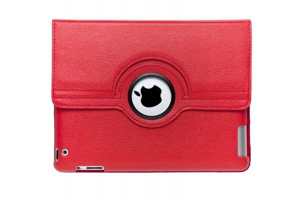 iPad Mini 1-2-3 PU Leren Draaibare Hoes Rood