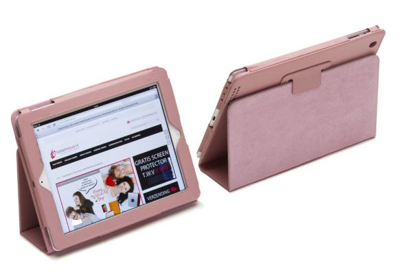 iPad Mini 4 Leren Book Cover Roze