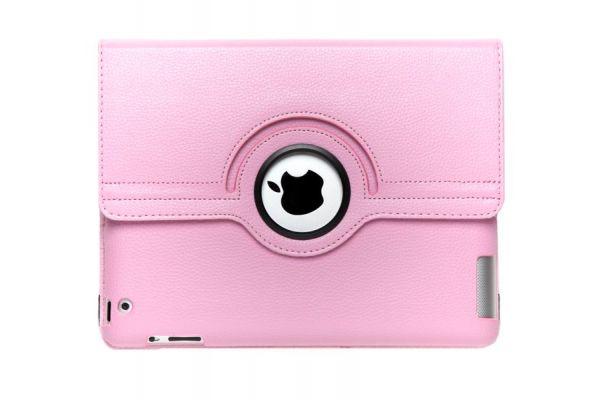 iPad Mini 1-2-3 PU Leren Draaibare Hoes Roze