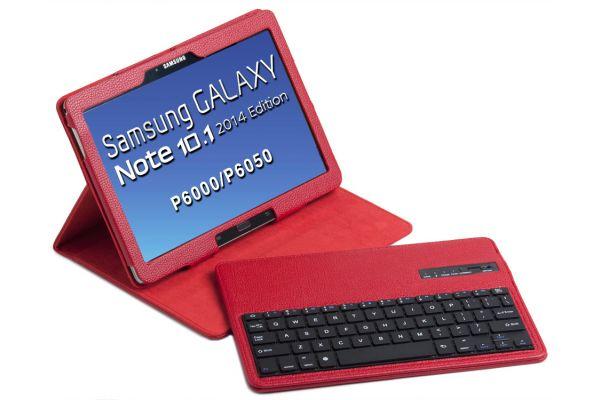 Tablethoes Samsung Note P600 2014 Ed 10.1 uitneembaar Toetsenbord Rood