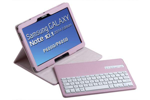 Tablethoes Samsung Note P600 2014 Ed 10.1 uitneembaar Toetsenbord Roze