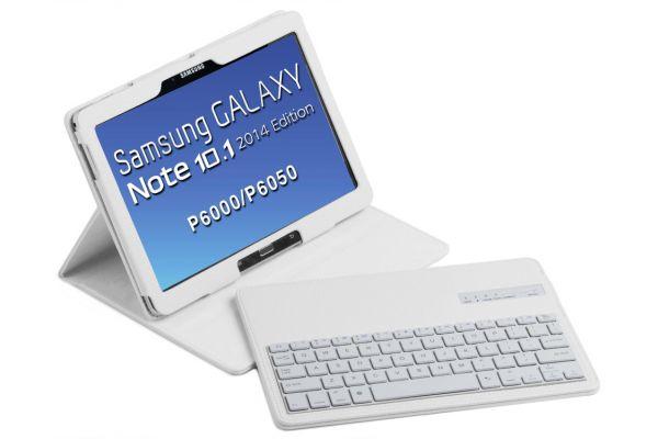 Tablethoes Samsung Note P600 2014 Ed 10.1 uitneembaar Toetsenbord Wit