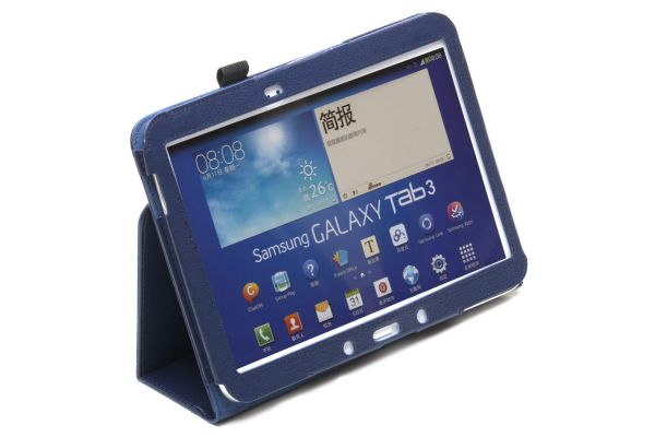 Samsung Galaxy Tab 3- 10.1- P5210 Leren Book Cover Navy