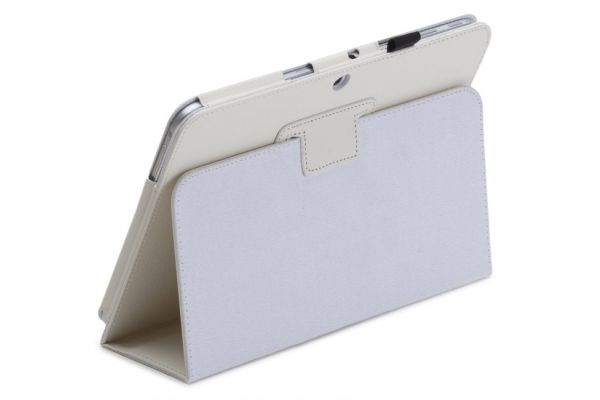 Samsung Galaxy Tab 4 10.1 Book Cover Leer Wit