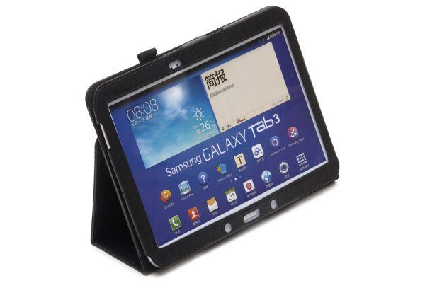 Samsung Galaxy Tab 3- 10.1- P5210 Leren Book Cover Zwart
