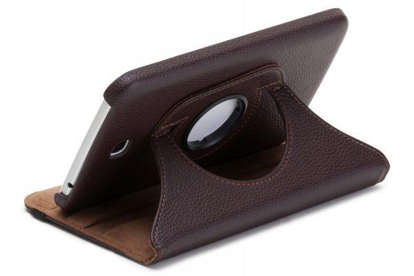 Tablet Samsung Tab S (8.4) T700 Leer Draaibare Hoes Bruin