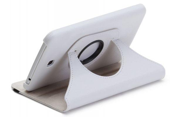 Samsung Galaxy Tab S (8.4) Leer Draaibare Hoes Wit