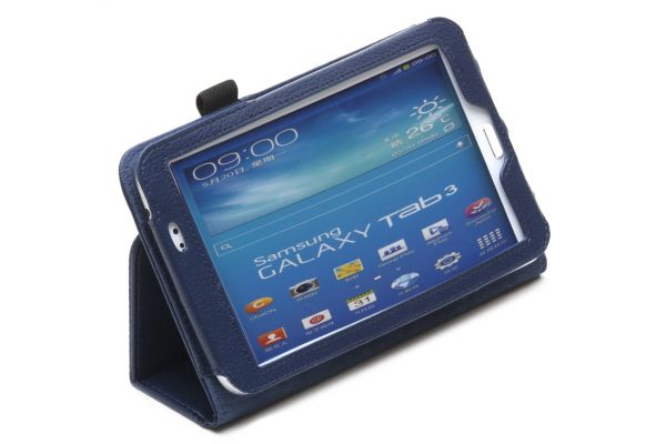 Tablet Samsung Tab3 SM-T210 7.0 inch Book Cover D. Blauw