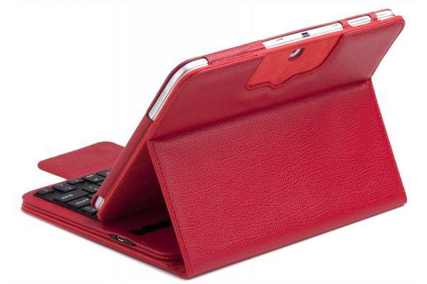 Samsung Galaxy Tab A 9.7 inch Luxe hoes + toetsenbord (harde toetsen) Rood