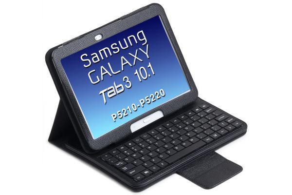 Tablethoes Samsung Tab3 P5210 10.1 uitneembaar Bluetooth Toetsenbord Zwart P5200