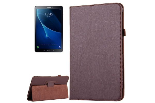 Samsung Tab A 10.1 PU leren hoes Book Cover Bruin T580 T585
