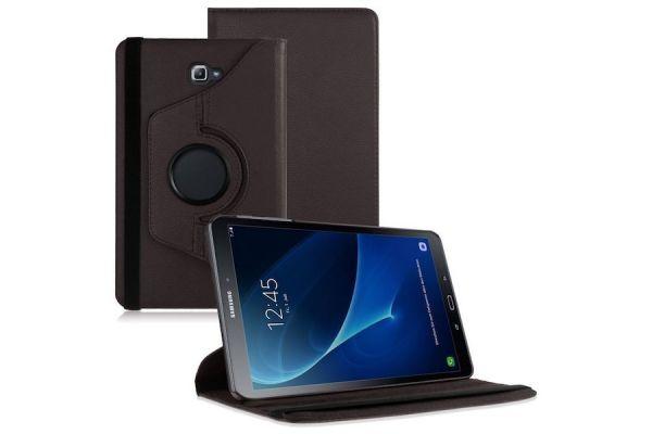 Samsung Galaxy Tab A 10.1 2016 PU leren Draaibare hoes Bruin
