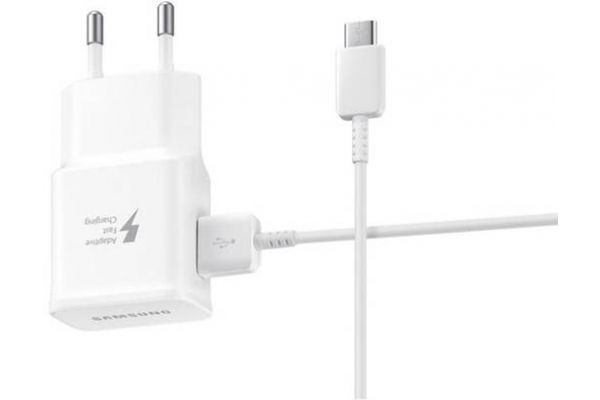 Samsung Galaxy A40 Fast Charger wit inclusief Samsung USB TYPE-C kabel 1.2 meter origineel wit